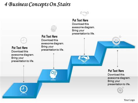 0314 business ppt diagram 4 business concepts on stairs