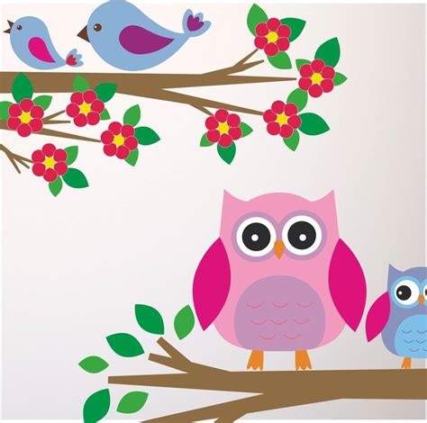 birds wall stickers owls and birds branch wall stickers by mirrorin
