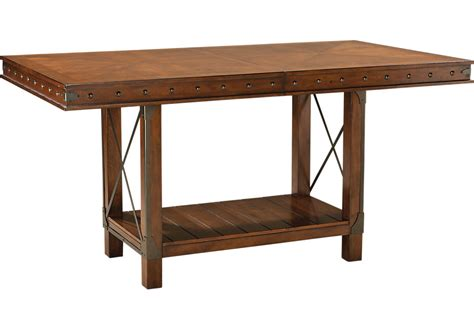 counter height dining table hook pecan rectangle counter height dining table