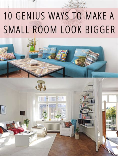how to make a small house 10 genius ways to make a small room look bigger babble