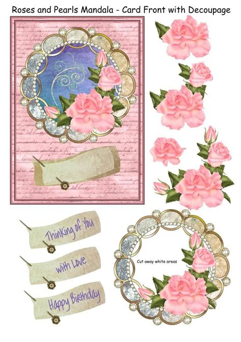 decoupage images free 3d decoupage photo roses pearls mandala 5850250 3 jpg