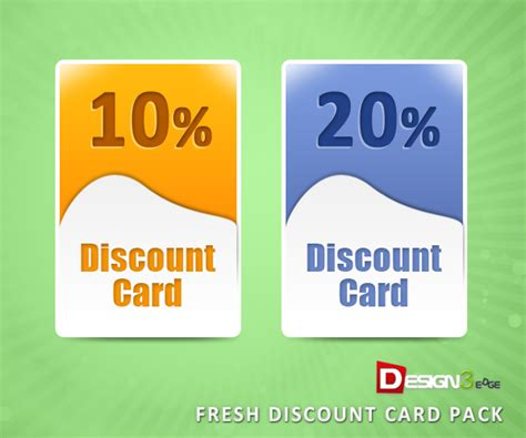 how to make discount cards fresh discount card pack design3edge