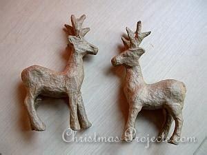 paper mache reindeer craft free craft project decoupatch paper mach 233 reindeer