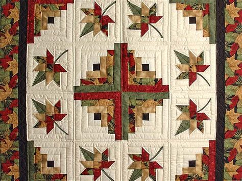 autumn splendor log cabin quilt gorgeous made with care
