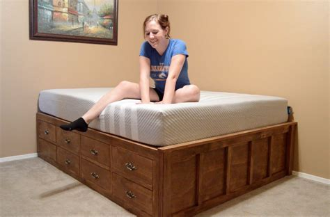 how to make size bed frame make a size bed with drawer storage