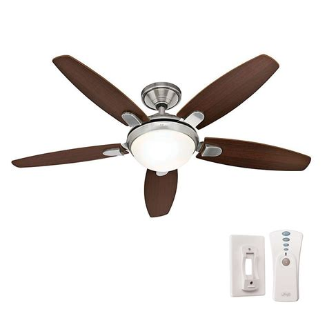 ceiling fans with remote contempo 52 in indoor brushed nickel ceiling fan