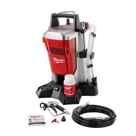 portable paint sprayers home depot milwaukee airless paint sprayer m4910 10 at the home depot