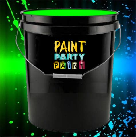 glow in the paint gallon 5 gallon washable neon paint green jena consulting