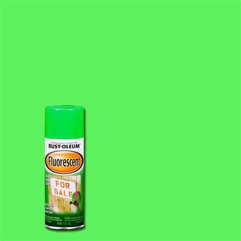home depot neon paint rust oleum specialty 11 oz green fluorescent spray paint
