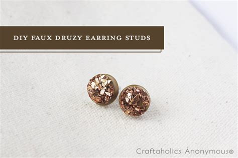 how to make druzy jewelry craftaholics anonymous 174 easy diy druzy stud earrings