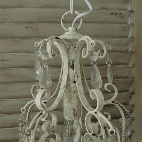 shabby chic white chandelier antique white chandelier droplets vintage light fitting