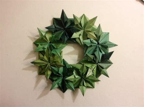origami wreath wreath 25 days of origami day 17