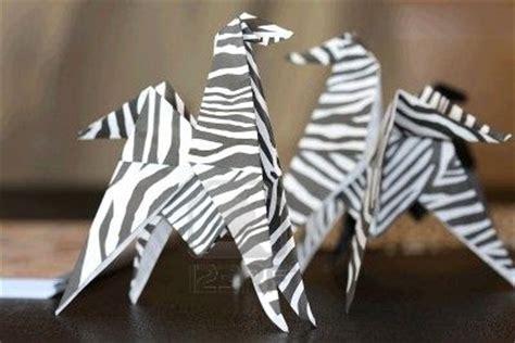 origami zebra origami maniacs animals