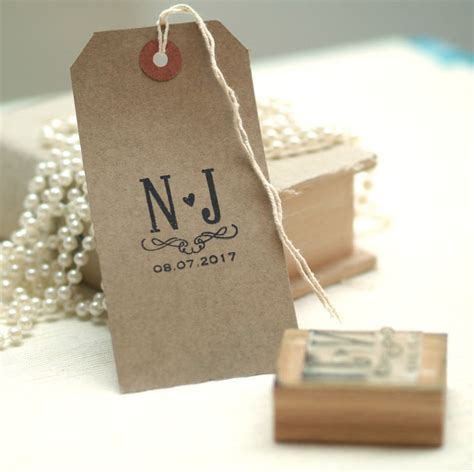 rubber st initials initials wedding favour st by pretty rubber sts