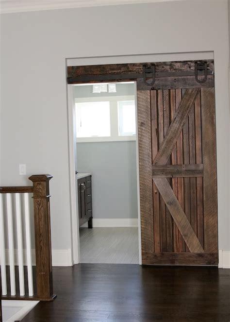 barn bathroom door farmhouse chic sliding barn doors so chic