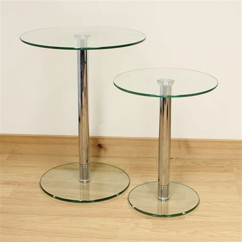 small glass side tables for living room side table clear