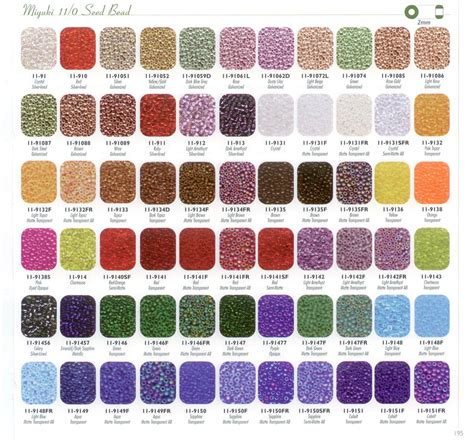 perler bead color chart details about size 6 matte frosted opaque glass 6 0