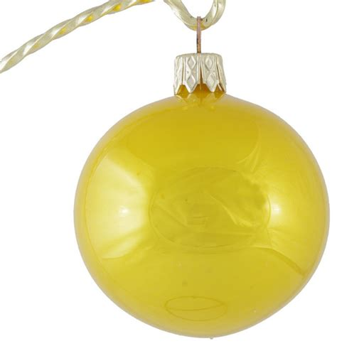 yellow ornaments glossy yellow glass ornament made in slovakia
