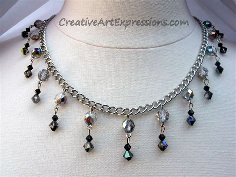 small black jewellery designs creative expressions black silver necklace