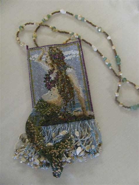 beaded amulet beaded amulet bag mermaids secrets from the sea