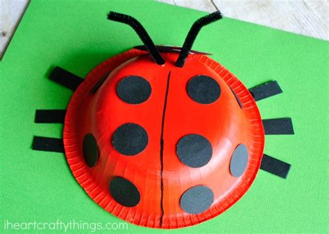 painting craft for paper bowl ladybug craft i crafty things