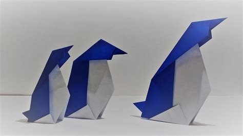 origami penguin folding how to fold an origami penguin tutorial my crafts and