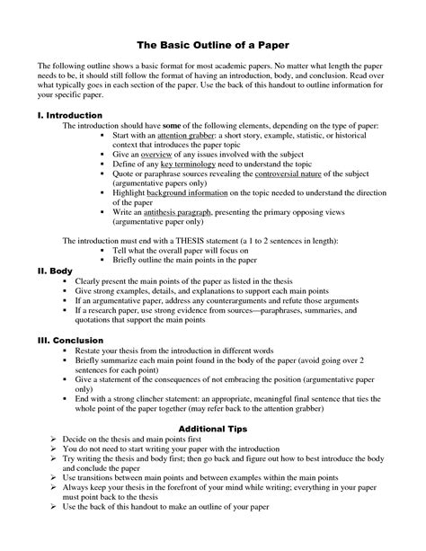 how do you write an outline for a research paper essays