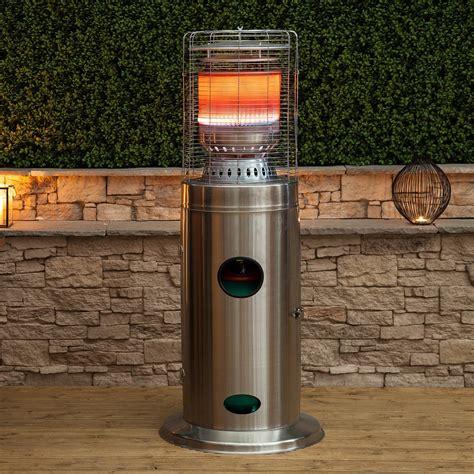 stainless steel outdoor patio heater bullet stainless steel floor standing gas patio heater