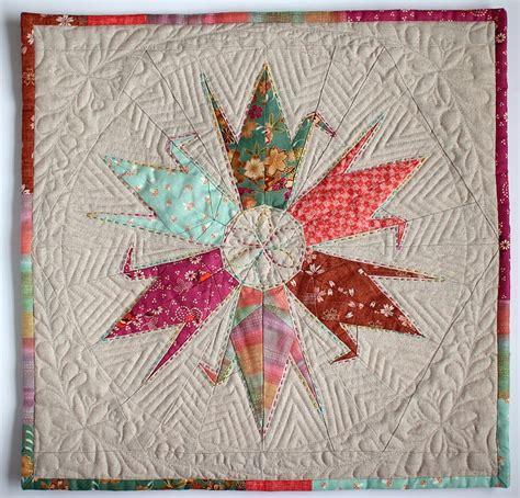 origami quilt quilted quot origami quot cranes quilt blocks