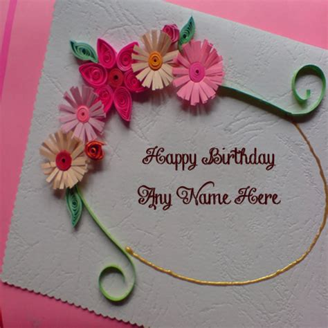 make a birthday card with name unique handmade birthday wish card for name write free
