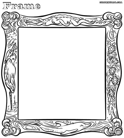 coloring book picture frame coloring pages coloring pages to and print