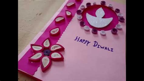 diwali cards for to make diwali greeting card idea with paper quilling