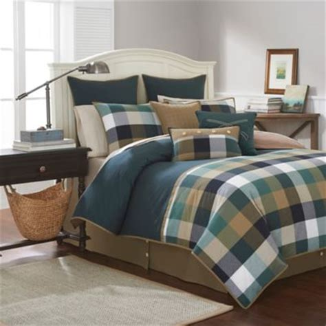 comforter set green buy green plaid comforters from bed bath beyond