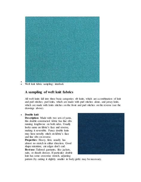 types of knits types of knitted fabric