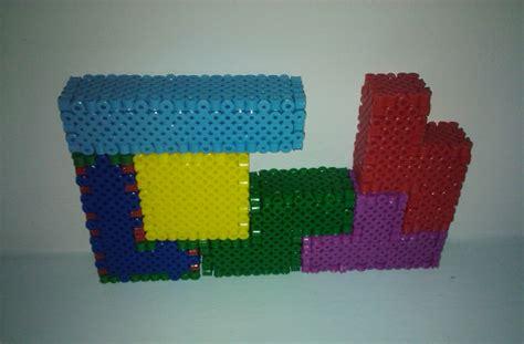 perler 3d 3d tetris blocks perler by undertakoshi on deviantart