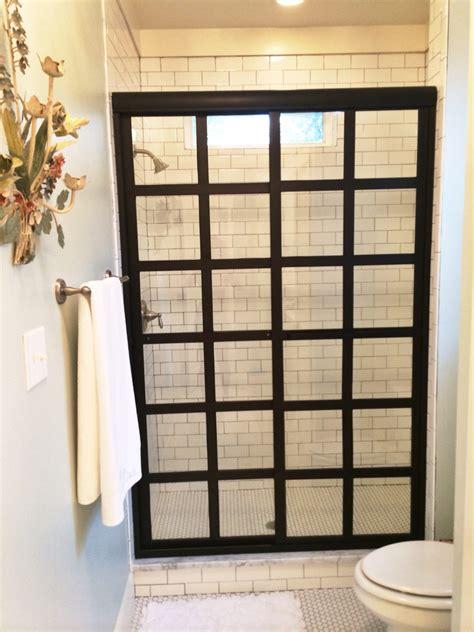 steel shower doors quot steel framed quot shower doors with black bronze anodized