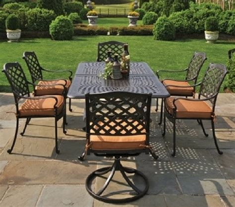 cast aluminum patio furniture sets berkshire by hanamint 6 person luxury cast aluminum patio