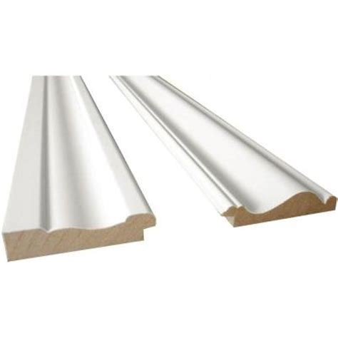 home depot paint for trim cape cod 8 ft white mdf base moulding and chair rail trim