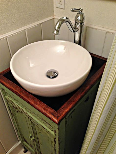 diy kitchen sink bathroom inspiring diy vessel sink vanity for bathroom