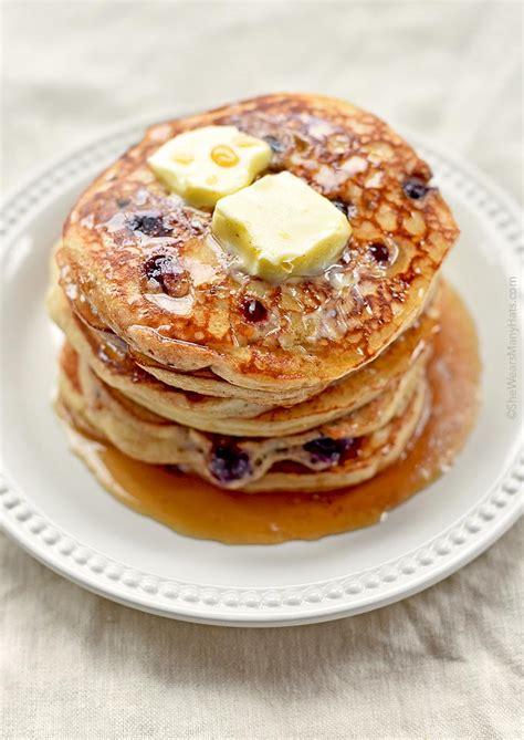 recipe blueberry pancakes yogurt blueberry pancakes recipe she wears many hats