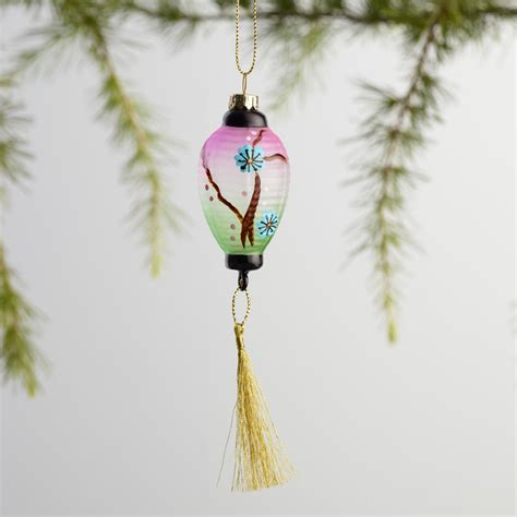 lantern ornaments mini glass lantern ornaments set of 3 world market