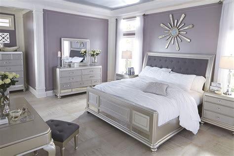 sler bedroom furniture coralayne silver bedroom set b650 157 54 96 furniture