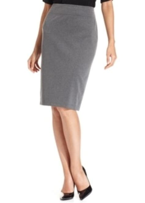 pull on knit pencil skirt style co style co pull on ponte knit pencil skirt