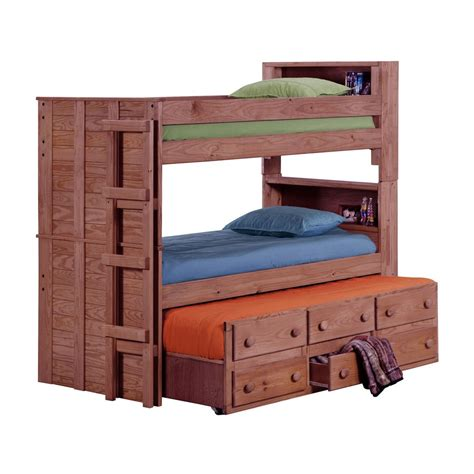 bookcase bunk beds chelsea home 312055 bookcase bunk bed with trundle unit