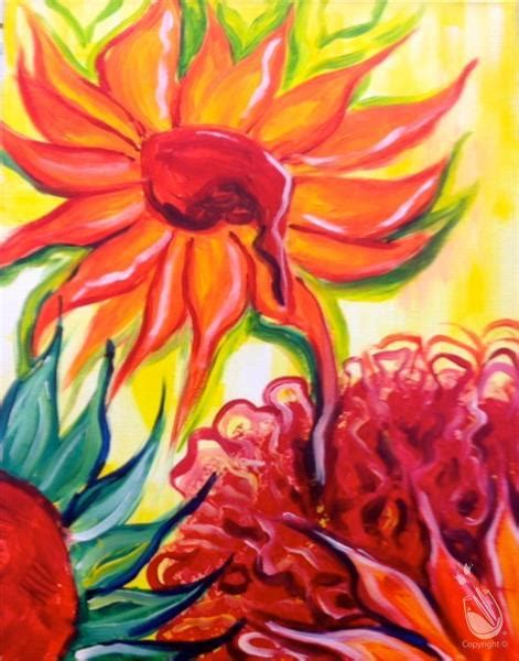 paint with a twist exton pa gogh s birthday colorful sunflowers thursday march