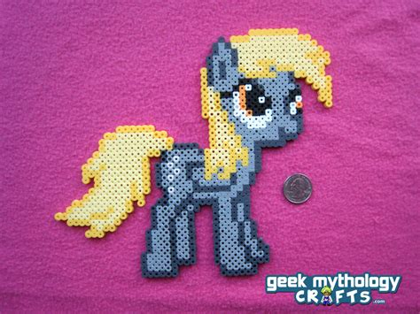 my pony perler craft perler mlp on my pony rainbow