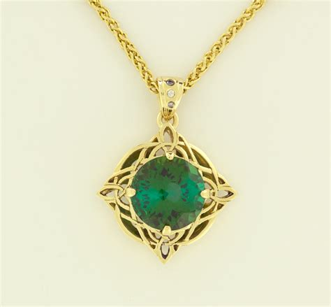 purchase for jewelry green tourmaline 5 82cts celtic pendant necklaces