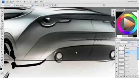 Car Photoshop Program by Render A Car Sketch In Photoshop