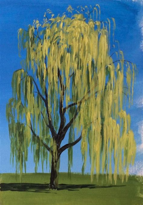 acrylic painting of trees learn how to paint a willow tree in acrylics with jon cox