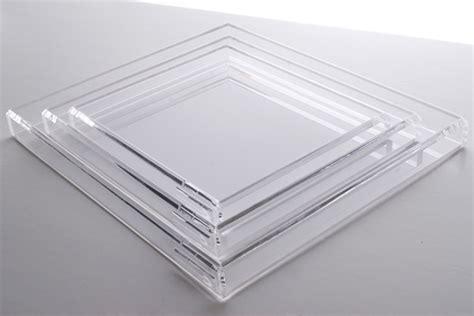 large acrylic trays voltage white